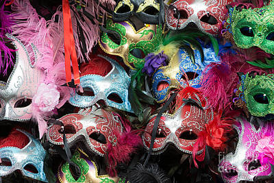 Photograph - Mardi Gras Masks by Jerry Fornarotto