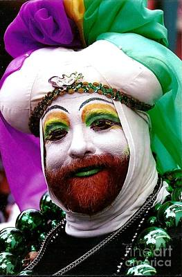 Print featuring the photograph Mardi Gras New Orleans La by Michael Hoard