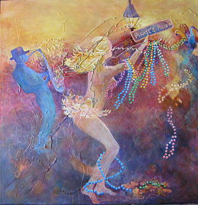 Mardi Gras Painting - Mardi Gras Nights by Pat Thomson