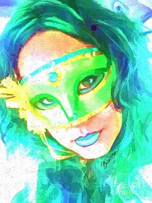 Digital Art - Mardi Gras by Peggy Gabrielson