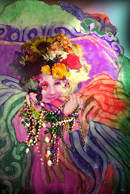Mardi Gras Queen Art Print