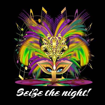 Mardi Gras Queen Style 2 Vector Sample Art Print by Bill Campitelle