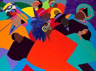 Multicultural Painting - Mardi Gras by Synthia SAINT JAMES
