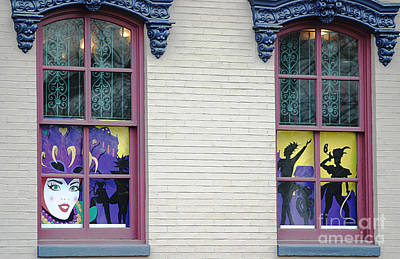 Photograph - Mardi Gras Windows by Living Color Photography Lorraine Lynch