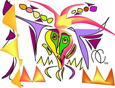 Mardis Digital Art - Mardis Gras Madman by Andy Cordan