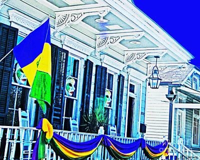 Digital Art - Mardis Gras New Orleans Decor by Lizi Beard-Ward