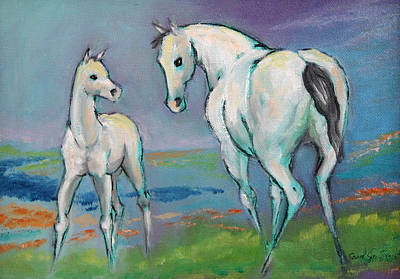 Mare And Foal Art Print
