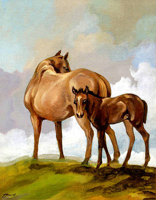 Painting - Mare And Foal by Patricia Howitt