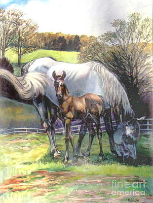 Painting - Mare And Foal by Stan Esson