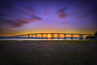Photograph - Mare Island Bridge At Sunset by PhotoWorks By Don Hoekwater