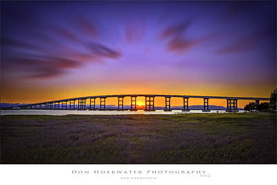 Mare Island Bridge Art Print by PhotoWorks By Don Hoekwater