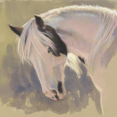 Gypsy Vanner Horse Painting - Mare With A Halo by Tracie Thompson