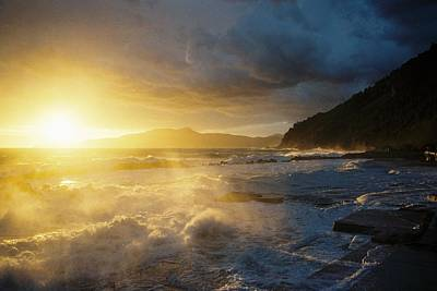 Wall Art - Photograph - Mareggiata Al Tramonto - Storm At Sunset by Andrea Gabrieli
