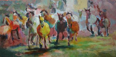 Painting - Mares On The Move by Carol Jo Smidt