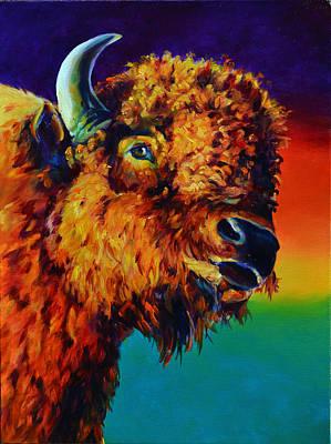 Buffalo Painting - Marfa Buffalo by Robert Pankey
