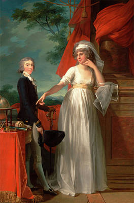 1743 Painting - Margaret Callander And Her Son James Kearney Signed by Litz Collection