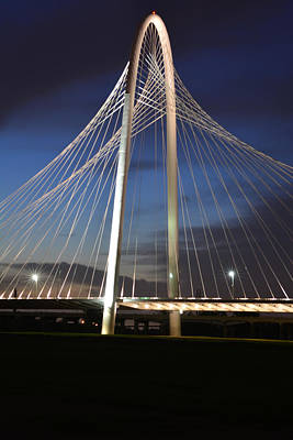 Photograph - Margaret Hunt Hill Bridge At Night by Jim Martin
