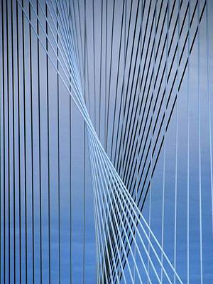 City Photograph - Margaret Hunt Hill Bridge Cables by Steven Richman