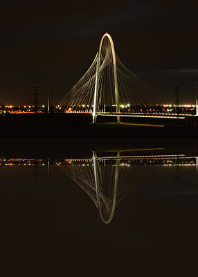 Photograph - Margaret Hunt Hill Bridge - Reflected by Jim Martin