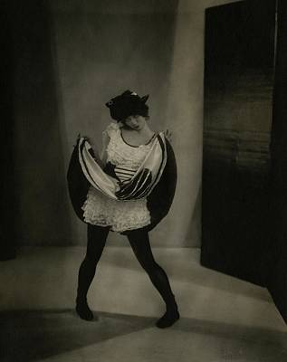 Bloomers Photograph - Margaret Severn Pulling Up Her Skirt by Edward Steichen