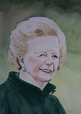 Painting - Margaret Thatcher by Betty-Anne McDonald