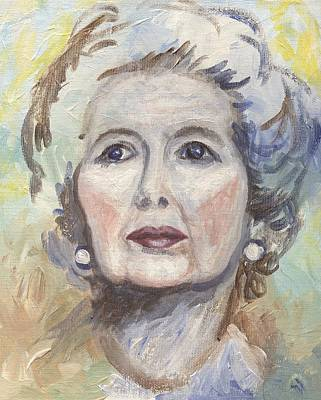 Politician Painting - Margaret Thatcher One by Linda Mears