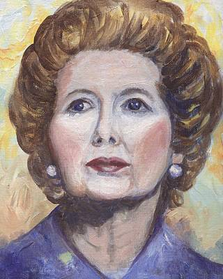 Margaret Thatcher Two Original by Linda Mears