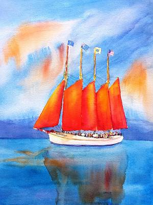 Painting - Margaret Todd Schooner Bar Harbor by Carlin Blahnik