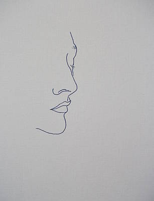 Girl Face Drawing - Margarita Fifty Six by Vernon Holt