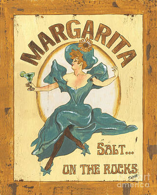 Floral Poster Painting - Margarita Salt On The Rocks by Debbie DeWitt