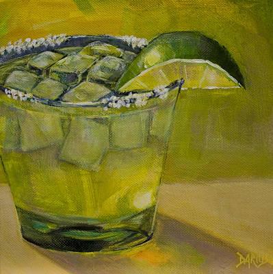 Martini Paintings - Margarita by Sue  Darius