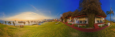 San Clemente Surfing Photograph - Margarita Time At The Beachcomber 360 Panorama by Scott Campbell