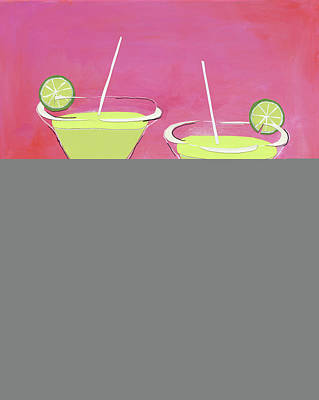 Happy Hour Painting - Margaritas by Jennifer Peck