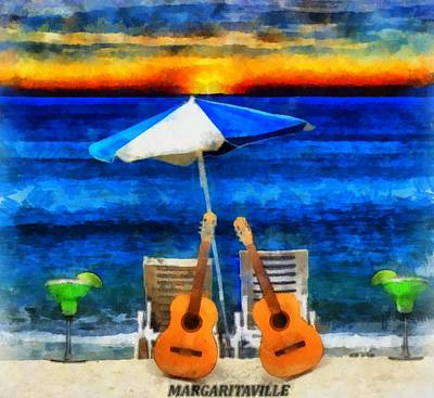 Escape Mixed Media - Margaritaville by Dan Sproul