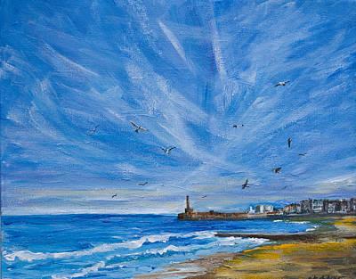 Margate Skies Art Print
