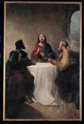 Marghinotti Giovanni, Supper At Emmaus Art Print