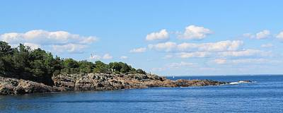 Photograph - View Of Marginal Way Ogunquit Maine by Michael Saunders