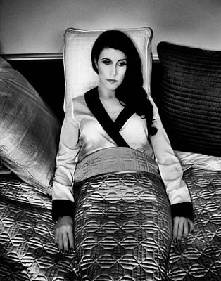 Bed Quilts Photograph - Contemplation Film Noir by William Dey