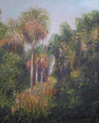 Flora And Fauna Painting - Margorie Kinnan Rawlings State Park by Patty Weeks