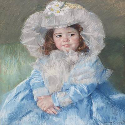 Painting - Margot In Blue by Florene Welebny