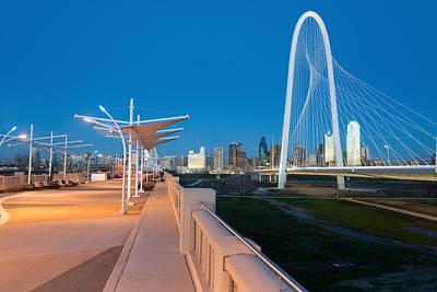 Dallas Skyline Photograph - Continental Bridge Park 012615 by Rospotte Photography