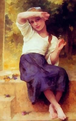 Digital Art - Marguerite by William Bouguereau