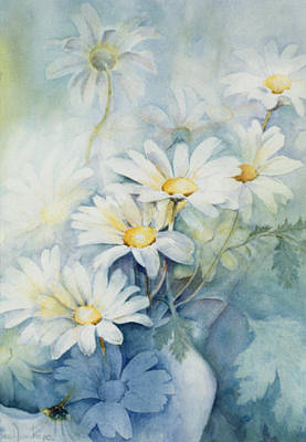 Marguerite Flowers Painting - Marguerites, Alexandria by Karen Armitage