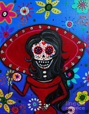 Painting - Maria Catrina Dia De Los Muertos by Pristine Cartera Turkus