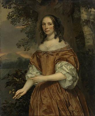 1616 Drawing - Maria De Witte Françoisdr, B 1616, Wife Of Johan Van by Litz Collection