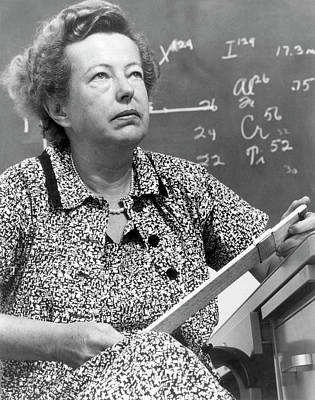 Atomic Bomb Photograph - Maria Goeppert-mayer by Us Department Of Energy