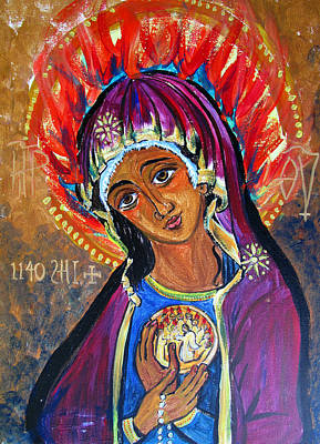 Maria Of Pentecost Original by Sarah Hornsby