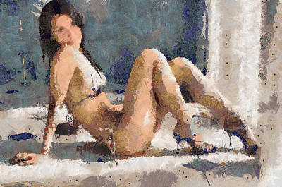 Painting - Maria Ozawa Beautiful And Sexy Lady by Teara Na