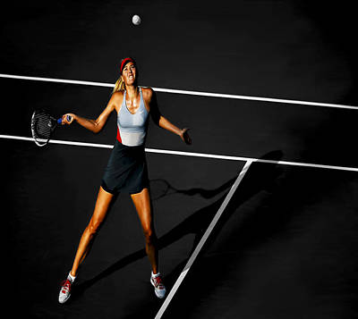 Serena Williams Digital Art - Maria Sharapova by Brian Reaves