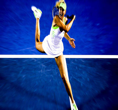 Maria Sharapova In A Zone Art Print by Brian Reaves